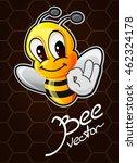 cartoon bee vector illustration | Shutterstock .eps vector #462324178
