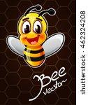 cartoon bee vector illustration | Shutterstock .eps vector #462324208