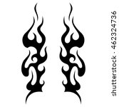 black tribal flames for tattoo... | Shutterstock .eps vector #462324736