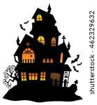 haunted house silhouette theme... | Shutterstock .eps vector #462329632