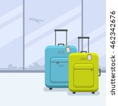 two bags with tags in flat... | Shutterstock .eps vector #462342676