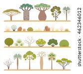 Set Of Flat African Flora...