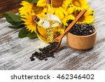 Yellow Sunflowers  Bottle With...