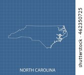 map of north carolina | Shutterstock .eps vector #462350725