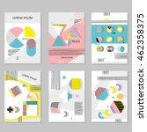set invitation with geometric... | Shutterstock .eps vector #462358375