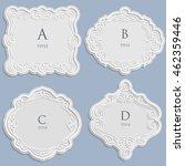 set vector label  vintage frame ... | Shutterstock .eps vector #462359446