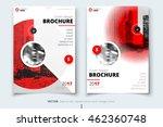 red brochure design. corporate... | Shutterstock .eps vector #462360748