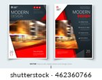 red catalog cover design. ... | Shutterstock .eps vector #462360766