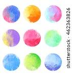 watercolor vector circles.... | Shutterstock .eps vector #462363826