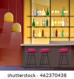 interior of evening bar with... | Shutterstock .eps vector #462370438