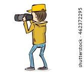 male photographer takes a... | Shutterstock .eps vector #462372295