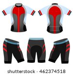 cycling vest team sports t... | Shutterstock .eps vector #462374518