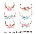 set of hand painted watercolor... | Shutterstock . vector #462377722