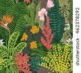 vector seamless vintage pattern.... | Shutterstock .eps vector #462378292