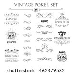vintage filigree poker label... | Shutterstock .eps vector #462379582