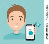 man house smartphone rent... | Shutterstock .eps vector #462387568