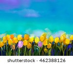Oil Painting Tulips Flowers....