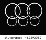 set of grunge round shape with... | Shutterstock .eps vector #462393052