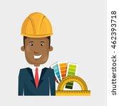 man helmet rules color vector...   Shutterstock .eps vector #462393718