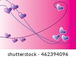 pink background with hearts on... | Shutterstock . vector #462394096