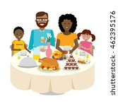 happy multicultural family... | Shutterstock . vector #462395176