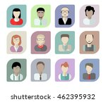 office workers avatars on a... | Shutterstock . vector #462395932