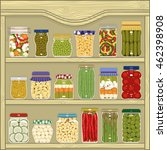 Jars Of Homemade Pickled...