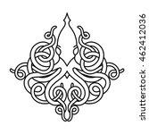 flat linear kraken illustration | Shutterstock .eps vector #462412036