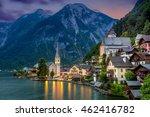 famous hallstatt village in... | Shutterstock . vector #462416782