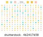 great set of 224 color emotion... | Shutterstock .eps vector #462417658