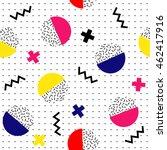 geometric  seamless  pattern.... | Shutterstock .eps vector #462417916