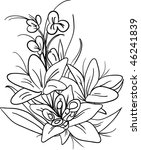 vector the  bouquet of lily... | Shutterstock .eps vector #46241839