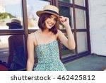 sunny lifestyle fashion... | Shutterstock . vector #462425812