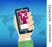 online booking for airplane... | Shutterstock .eps vector #462428452