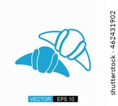 croissant vector. isolated blue ...