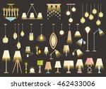 lamp set isolated on black... | Shutterstock .eps vector #462433006