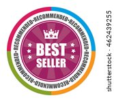 purple best seller guarantee... | Shutterstock . vector #462439255