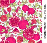 seamless pattern with... | Shutterstock .eps vector #462441586