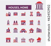 houses  home icons | Shutterstock .eps vector #462452902