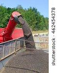 overloading rapeseed tractor... | Shutterstock . vector #462454378