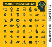 marketing strategy icons | Shutterstock .eps vector #462455542