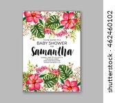 baby shower invitation template ... | Shutterstock .eps vector #462460102