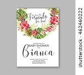 baby shower invitation template ...   Shutterstock .eps vector #462460222