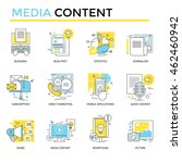media content concept icons ... | Shutterstock .eps vector #462460942
