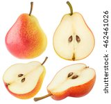 isolated pears. collection of... | Shutterstock . vector #462461026