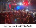 de focused concert crowd. | Shutterstock . vector #462466486