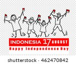 independence day  indonesia | Shutterstock .eps vector #462470842