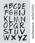 font brush stroke alphabet... | Shutterstock .eps vector #462472252
