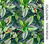 abstract watercolor rainforest...   Shutterstock .eps vector #462473722