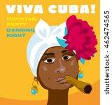 cuban woman face. cartoon... | Shutterstock .eps vector #462474565